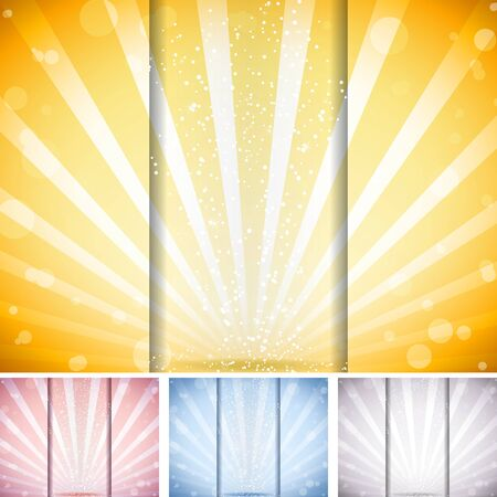 Perspective Striped Background. Set of 4 colors Vector