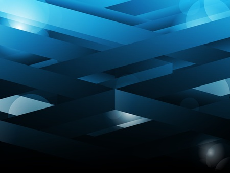Blue abstract geometric lines background. Vector