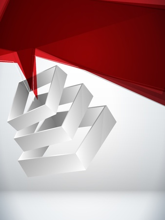 3d background:  Abstract Geometric 3D Background Illustration