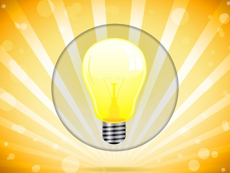 Light Bulb on Colorful Background Stock Vector - 11032090