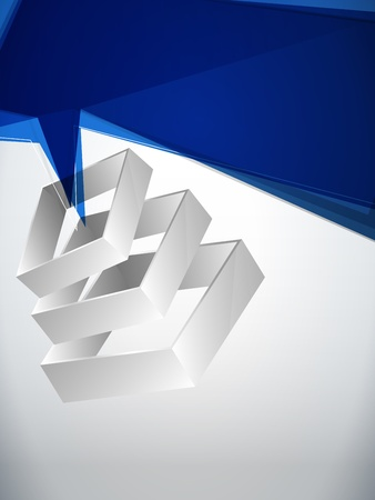 Vector - Abstract Geometric 3D Background Vector