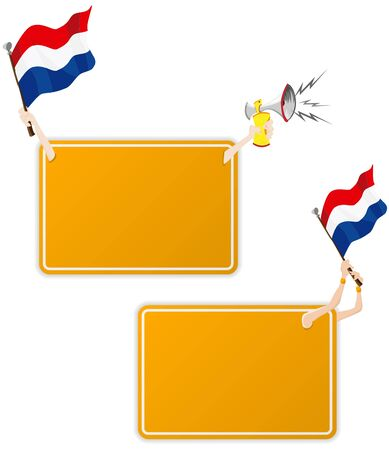 Vector - Dutch Sport Message Frame with Flag. Set of Two Vector