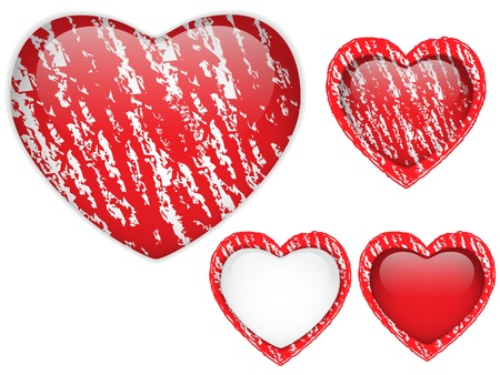 Vector - Red Heart Glass Chalk for Valentine Vector