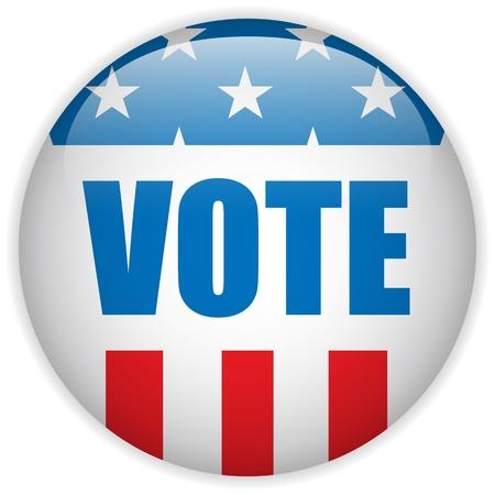 vote: Vector - United States Election Vote Button  Illustration