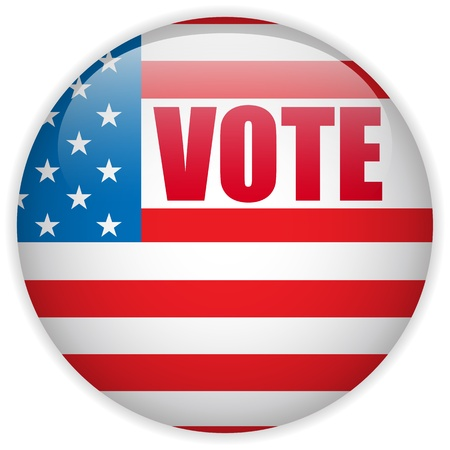 Vector - United States Election Vote Button  Stock Illustratie