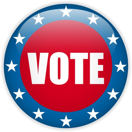 Vector - United States Election Vote Button  Illustration