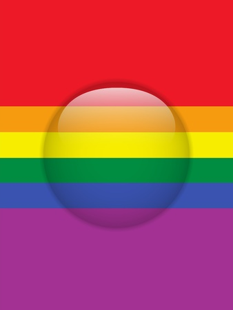 Vector - Circle Glass Glossy Button Gay