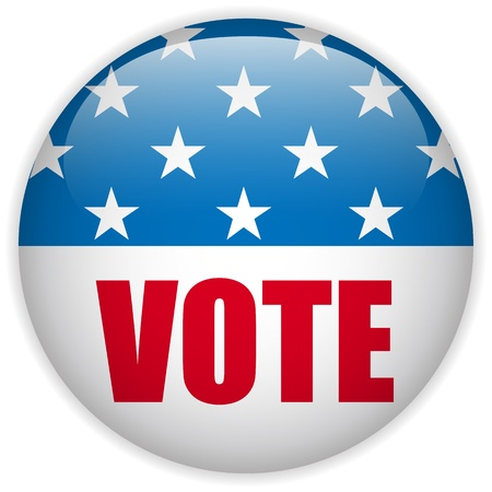 suffrage: Vector - United States Election Vote Button  Illustration