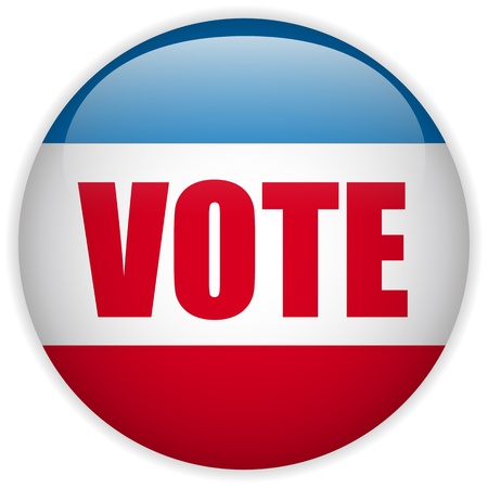 elect: Vector - United States Election Vote Button  Illustration