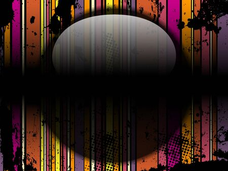 Vector - Glass Circle Background Stripes Black Vector