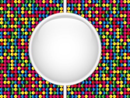 repetition dotted row: Vector - Glass Circle Button Colorful Dots Illustration