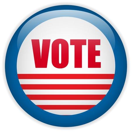 vote button: Vector - United States Election Vote Button.