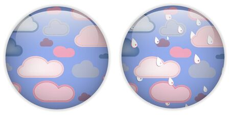 Vector - Cloud Computing Cute Icon Button Vector