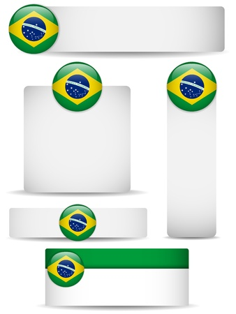 brazilian flag: Vector - Brazil Country Set of Banners