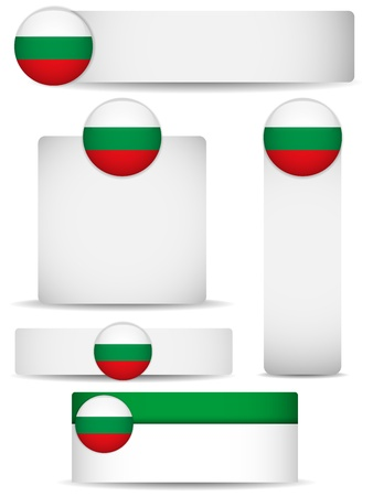Bulgaria Country Set of Banners Illustration
