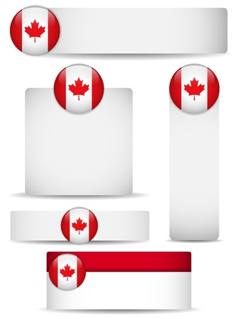 Canada Country Set of Banners Vector