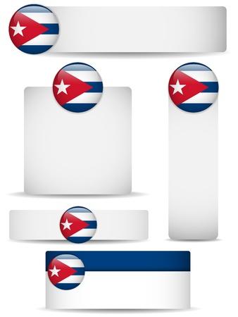 cuban: Cuba Country Set of Banners