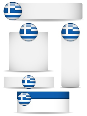 greece flag:  Greece Country Set of Banners