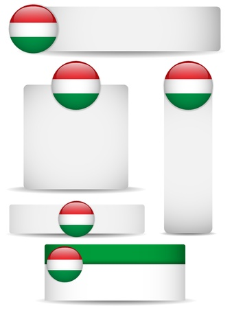 Hungary Country Set of Banners Stock Vector - 13718339