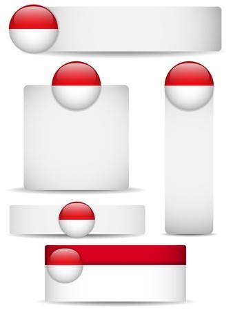 Monaco Country Set of Banners Stock Vector - 13718337