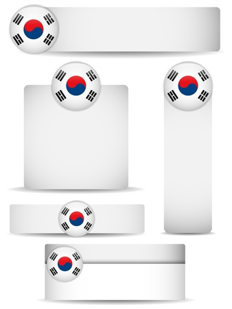 South Korea Country Set of Banners Stock Vector - 13718456