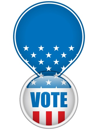 United States Election Vote Button. Stock Vector - 13718285