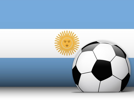 Vector - Argentina Soccer Ball with Flag Background Vector