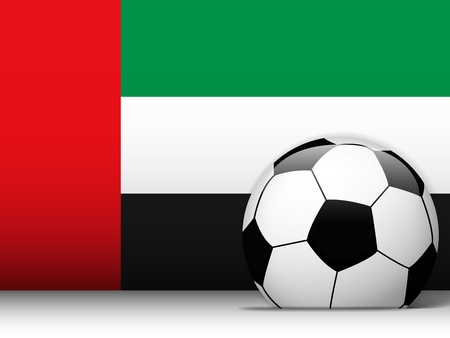 emirates: Vector - Emirates Soccer Ball with Flag Background