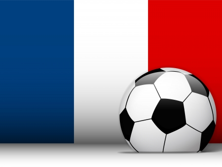 Vector - France Soccer Ball with Flag Background Vector