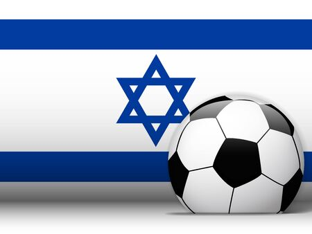 Vector - Israel Soccer Ball with Flag Background Vector