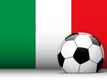 Vector - Italy Soccer Ball with Flag Background Vector