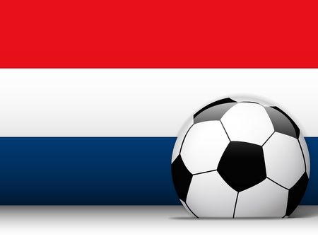 Vector - Netherlands Soccer Ball with Flag Background Vector