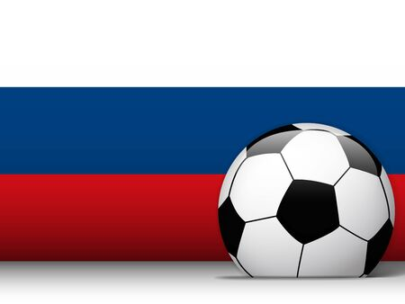 Vector - Russian Soccer Ball with Flag Background Vector