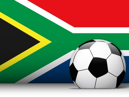Vector - South Africa Soccer Ball with Flag Background Vector