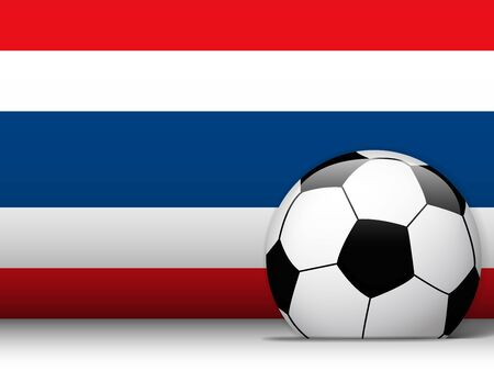 Vector - Thailand Soccer Ball with Flag Background Vector