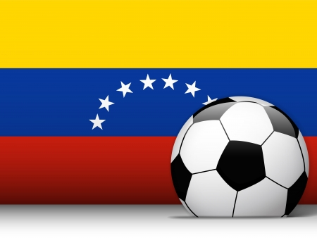Vector - Venezuela Soccer Ball with Flag Background Vector