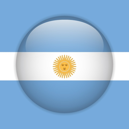 Argentina Flag Glossy Button Stock Vector - 14220746