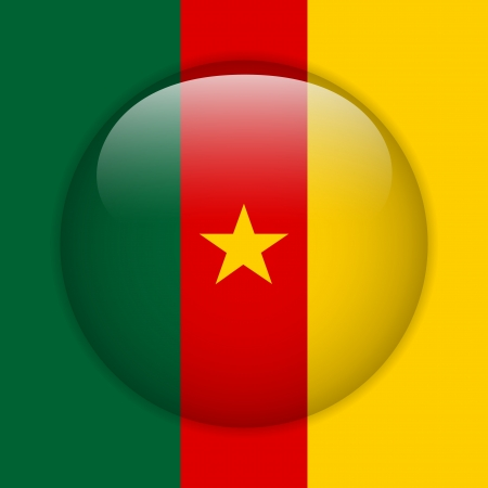 cameroonian: Vector - Cameroon Flag Glossy Button