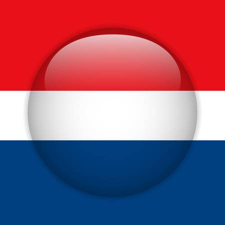 Vector - Netherlands Flag Glossy Button Stock Vector - 14220472