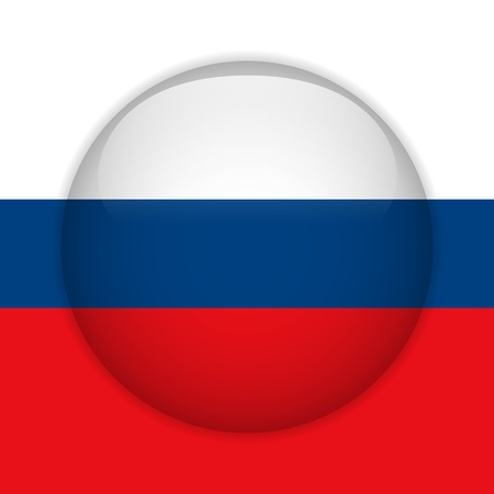 Vector - Russia Flag Glossy Button Stock Vector - 14220728