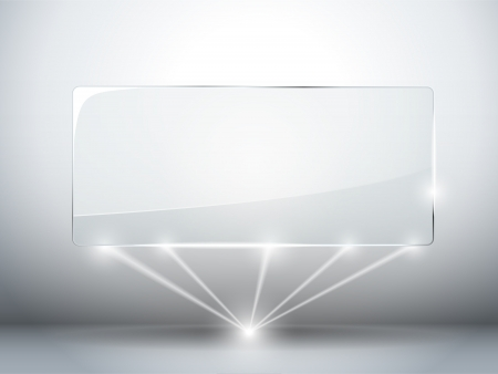 Glass Plate Background with Lasers Vector