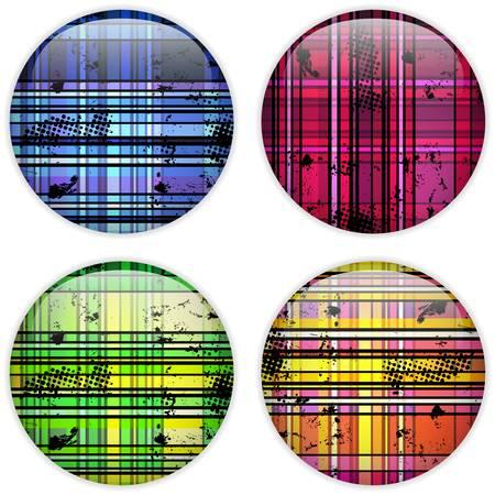 colorful stripes: Glass Circle Button Colorful Stripes