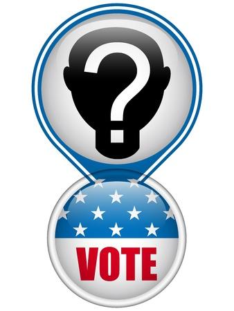 suffrage: United States Election Vote Button.