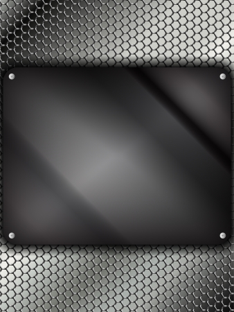 Glass Metal Silver Square Vector