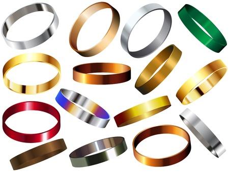 wristband: Metal Rings Bracelets Wristband Set