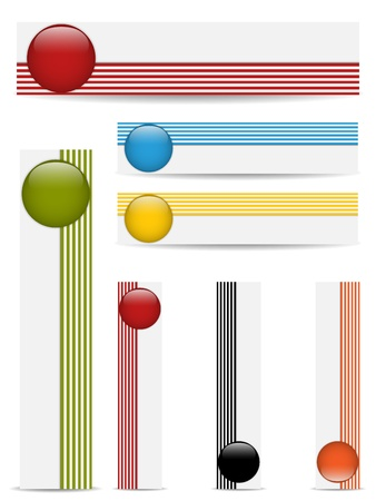 reflection internet: Glossy web buttons with colored bars
