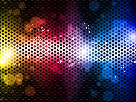 fond fluo: Colorful fond arc en ciel au n�on de partie Illustration