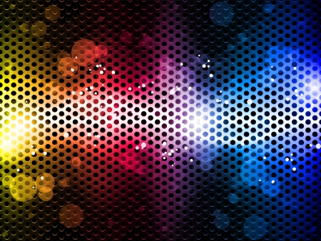 Colorful Rainbow Neon Party Background Illustration