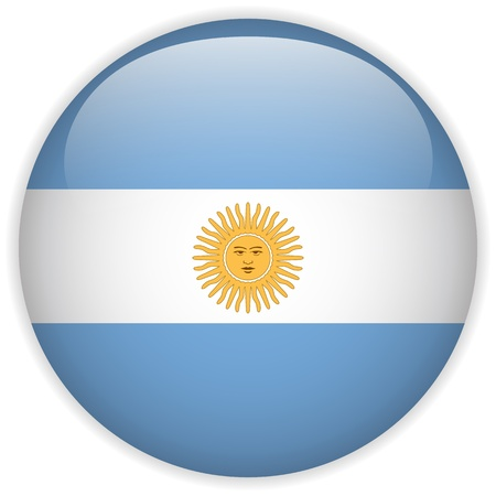 argentina: Vector - Argentina Flag Glossy Button
