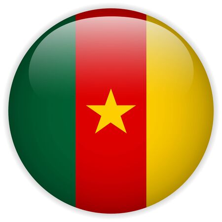 Vector - Cameroon Flag Glossy Button Vector